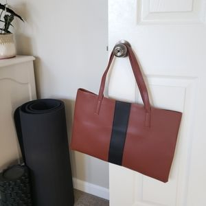 Vince Camuto Luck Brown Vegan Leather Tote